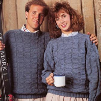 ePattern Basketweave Pullover