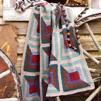 ePattern Rustic Log Cabin Afghan