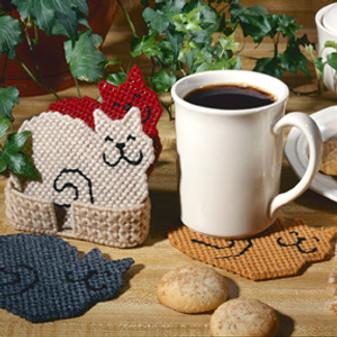 ePattern Kitty Coasters