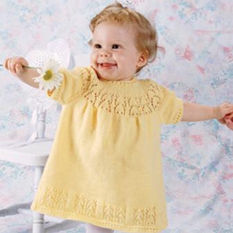 ePattern Lace Window Baby Dress