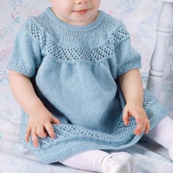 ePattern Lace Trellis Baby Dress