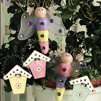 ePattern Fluttering Friends Ornaments