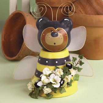 ePattern Potted Bumblebee Bear