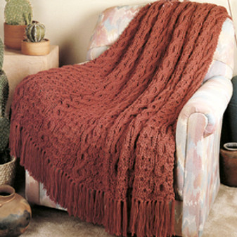 ePattern Quick Knit Cables & Clusters Afghan