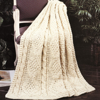 ePattern Quick Knit Cables & Diamonds Afghan