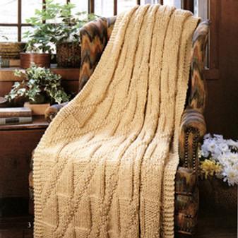 ePattern Quick Knit Royal Diagonals Afghan