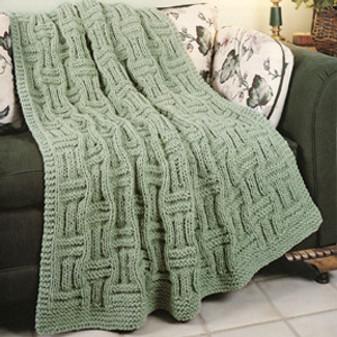 ePattern Quick Knit Basketweave Afghan