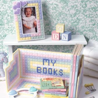 ePattern Baby's Bookshelf & Frame