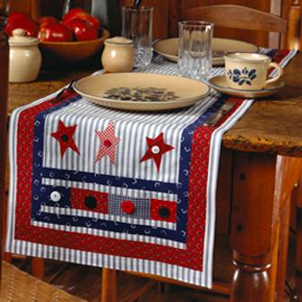 ePattern Patriotic Patchwork Table Runner