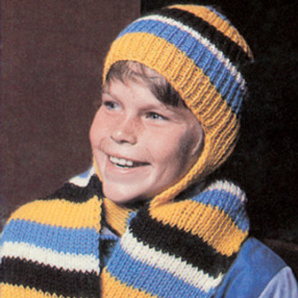 ePattern Cap with Attached Scarf