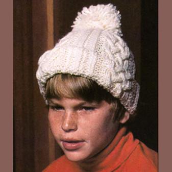 ePattern Worsted Irish Knit Hat