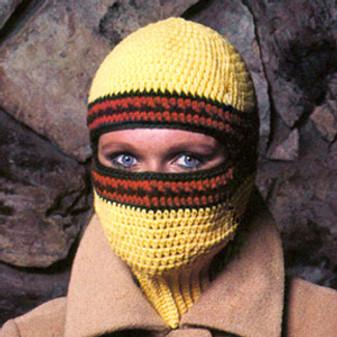 ePattern Ribbed Neck Ski Mask