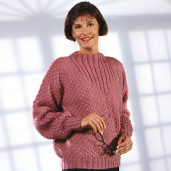 ePattern Ribbed Hi-Neck Pullover