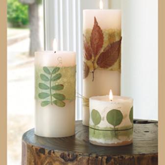 ePattern Botanical Pillar Candles
