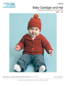 ePattern Baby Cardigan & Hat
