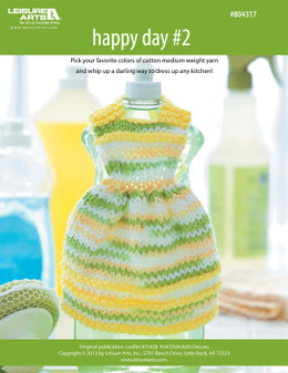 ePattern Happy Day #2 Dishcloth Dress