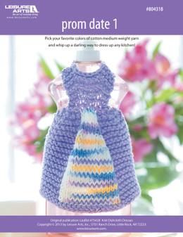 ePattern Prom Date #1 Dishcloth Dress