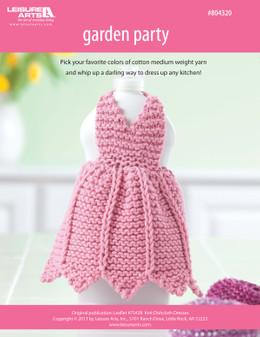 ePattern Garden Party Dishcloth Dress