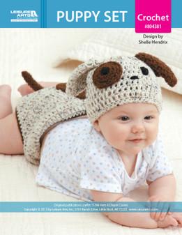 ePattern Puppy Hat/Diaper Set