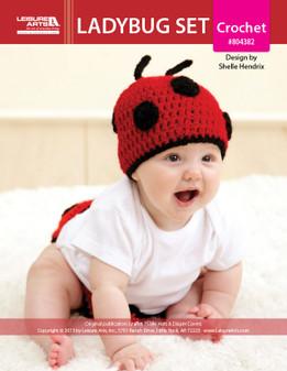 ePattern Ladybug Hat/Diaper Set