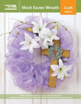 ePattern Easter Deco Mesh Wreath
