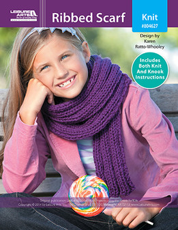 ePattern Ribbed Scarf for Kids