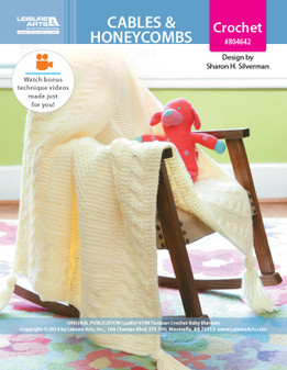ePattern Cables & Honeycombs Baby Blankets
