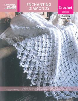 ePattern Enchanting Diamonds Baby Afghan