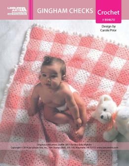 ePattern Gingham Checks Baby Afghan