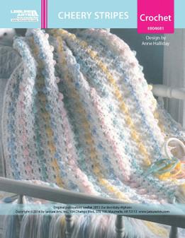 ePattern Cheery Stripes Baby Afghan
