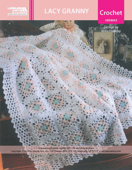 ePattern Lacy Granny Baby Afghan
