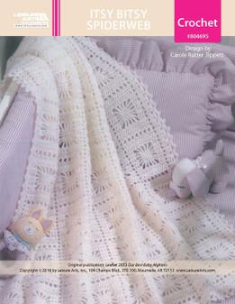 ePattern Itsy Bitsy Spiderweb Baby Afghans