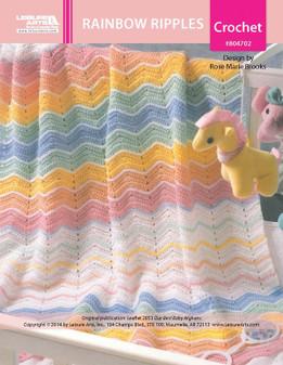 ePattern Rainbow Ripples Baby Afghan