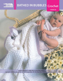 ePattern Bathed in Bubbles Baby Afghan