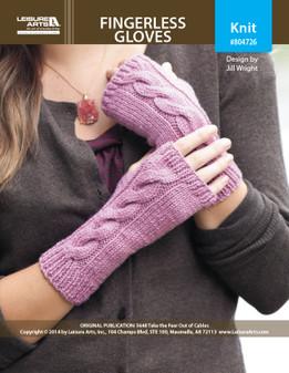 ePattern Cable Fingerless Gloves