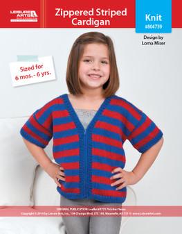 ePattern Zippered Striped Cardi