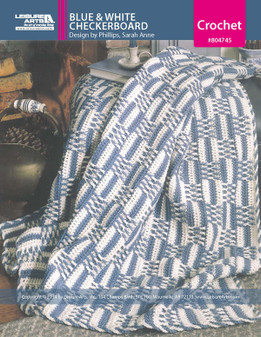 ePattern Blue and White Checkerboard Afghan