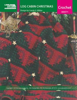 ePattern Log Cabin Christmas Afghan