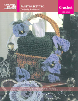 ePattern Pansy Basket Tissue Cover
