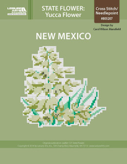 ePattern State Flowers: New Mexico Yucca Flower