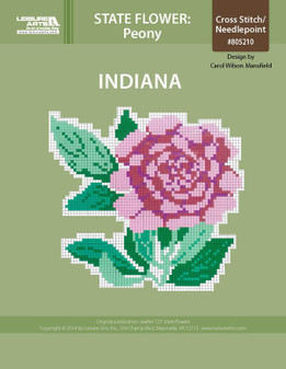 ePattern State Flowers: Indiana Peony