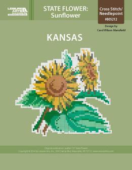 ePattern State Flowers: Kansas Sunflower