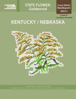 ePattern State Flowers: Kentucky/Nebraska Goldenrod