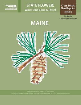 ePattern State Flowers: Maine White Pine Cone and Tassel