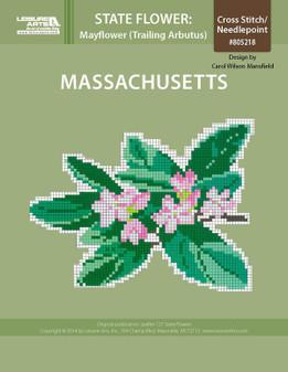 ePattern State Flowers: Massachusetts Mayflower (Trailing Arbutus)