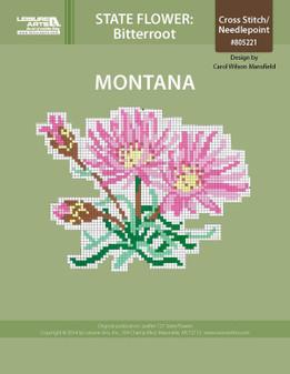 ePattern State Flowers: Montana Bitterroot