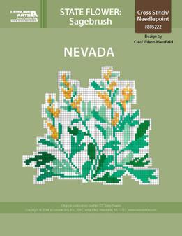 ePattern State Flowers: Nevada Sagebrush
