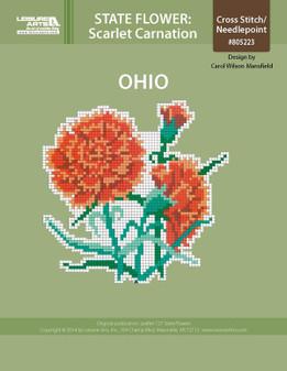 ePattern State Flowers: Ohio Scarlet Carnation