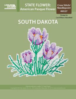 ePattern State Flowers: South Dakota American Pasque Flower