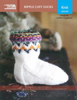 ePattern Ripple Cuff Socks